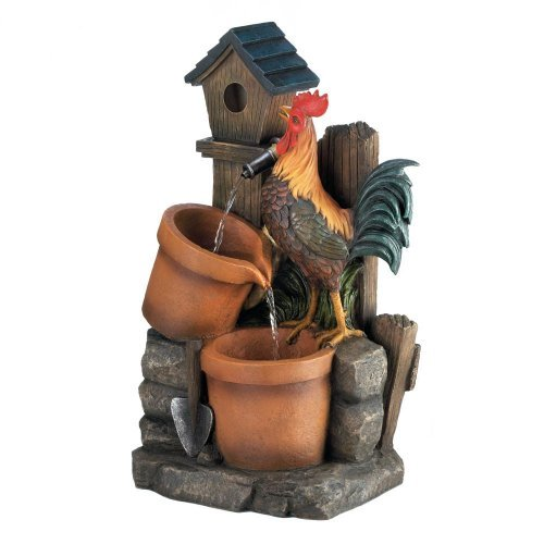 Cascading Fountains Rooster Water Fountain Outdoor Water Fountains Drop Sh