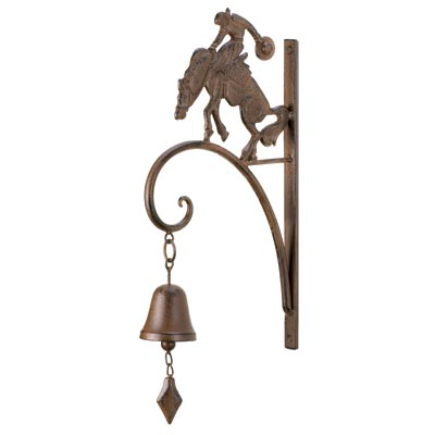 Home locomotion cowboy bell wall decor western nostalgia for Cheap western decor