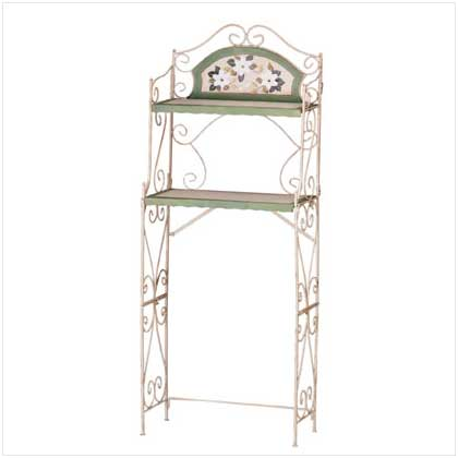 Wrought iron over toilet bath towel rack bathroom shelf ebay - Wrought iron towel racks bathroom ...