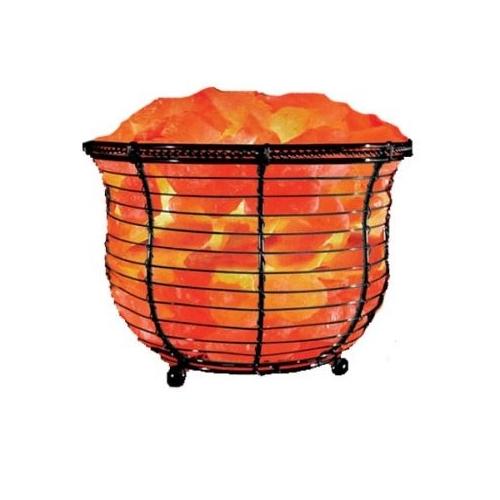 Natural Solution Himalayan Salt Tall Basket Lamp, Himalayan Salt Lamps - Drop shipping to your ...
