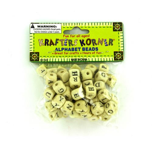 small wooden alphabet beads