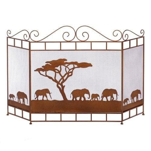 wild savannah fireplace screen
