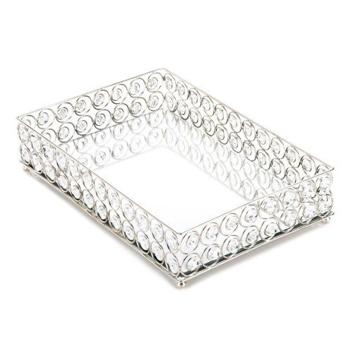 shimmer rectangular jeweled tray