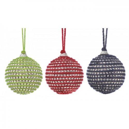 holiday jute ball ornament trio