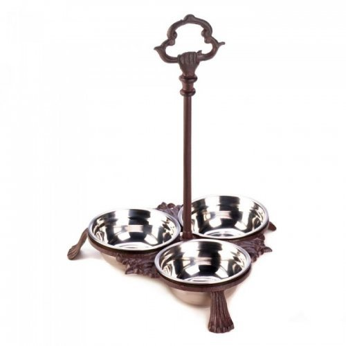cast iron pet bowls with handle
