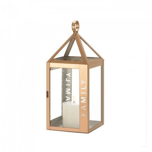 rose metal frame family lantern