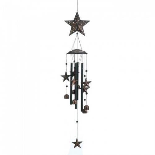 "26"" bronze stars wind chimes"