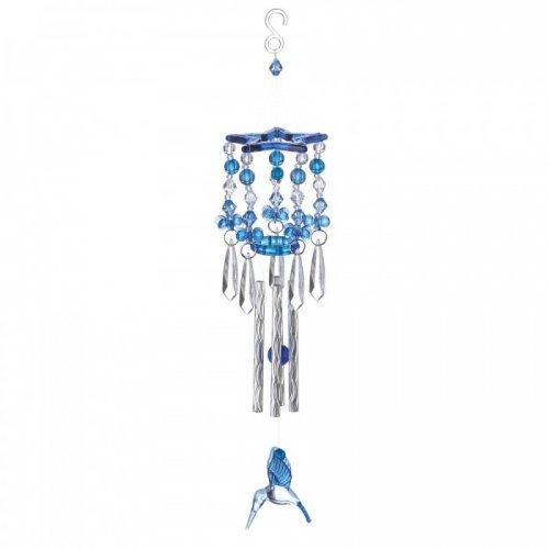 blue hummingbird wind chimes