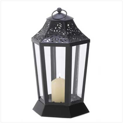 midnight garden candle lamp