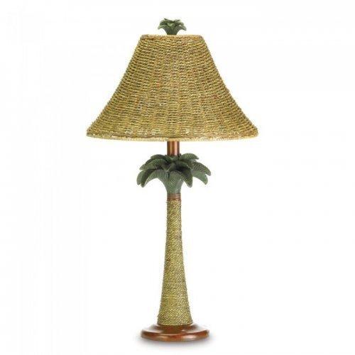 palm tree rattan lamp