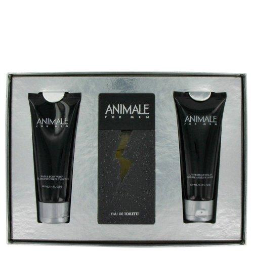 animale by animale gift set -- 3.3 oz eau de toilette spray + 3.4 oz after shave balm + 3.4 oz body wash
