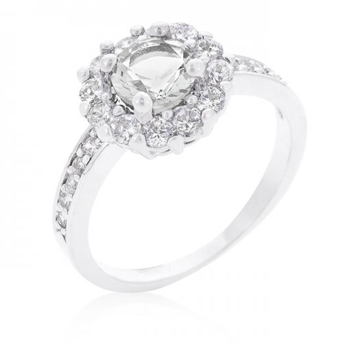 bella birthstone engagement ring in clear (size: 09)