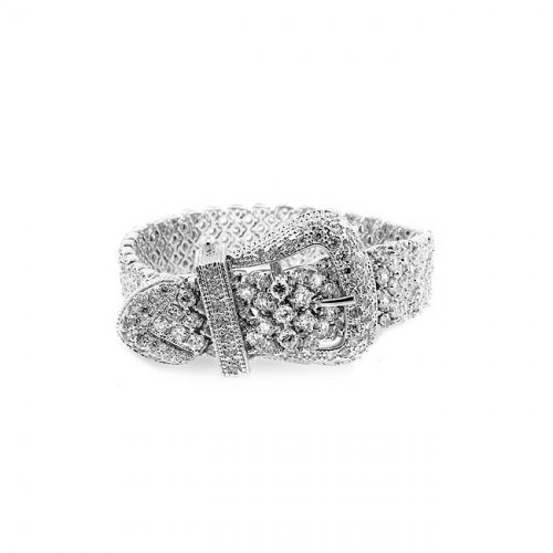 cz buckle bracelet