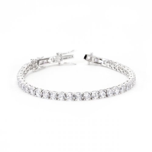 clear cz tennis bracelet