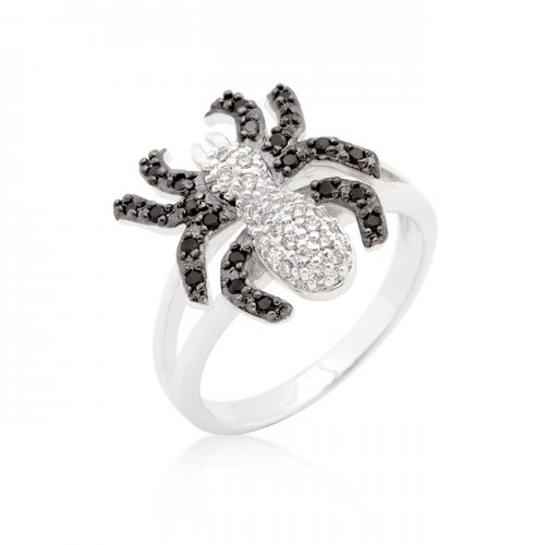 cubic zirconia spider fashion ring (size: 09)