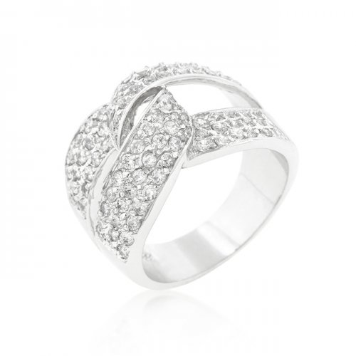 cubic zirconia knot ring (size: 10)