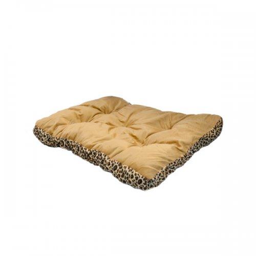 28in rectangular leopard print pet bed