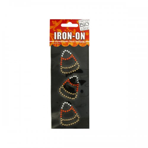 candy corn rhinestone iron-on transfer