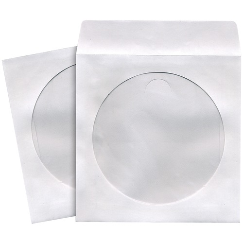 maxell cd and dvd storage sleeves (100 pk; white)