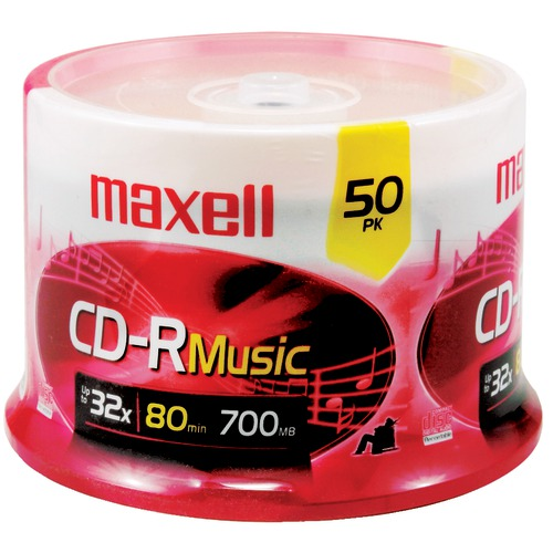 maxell 80-minute music cd-rs (50-ct spindle)