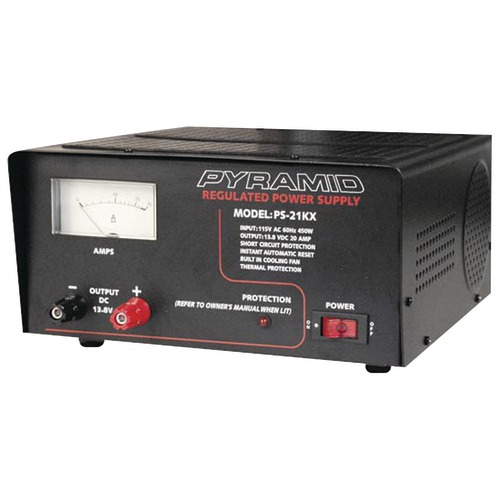 pyramid 18-amp power supply with built-in cooling fan