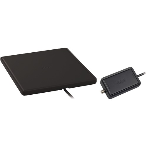 rca multidirectional amplified indoor flat hdtv antenna