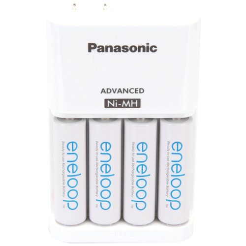panasonic 4-position charger with aa eneloop batteries, 4 pk