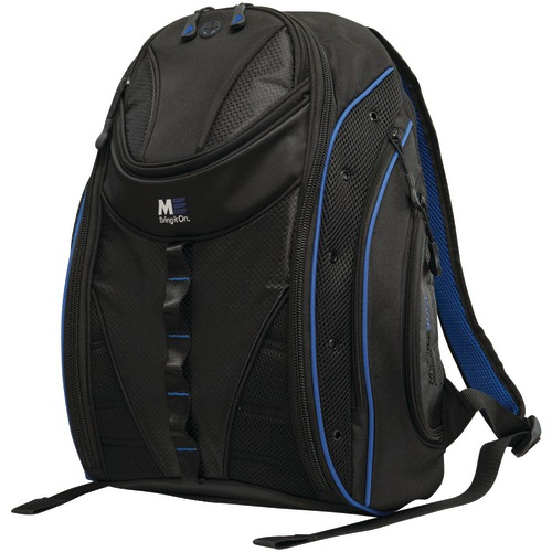 """mobile edge 16"""" pc and 17"""" macbook express 2.0 backpack, royal blue"""