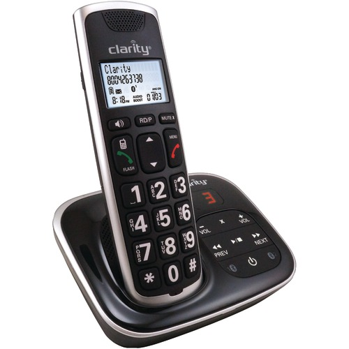 clarity amplified bluetooth cordless phone with answering machine