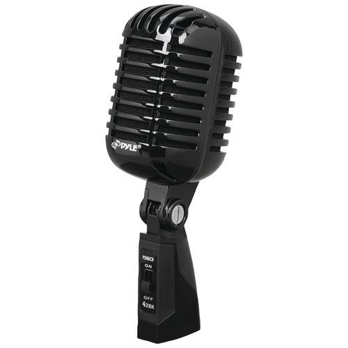 pyle pro classic retro vintage-style dynamic vocal microphone (black)