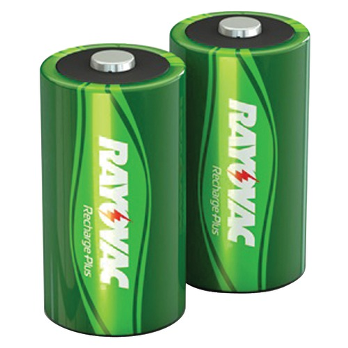 rayovac ready-to-use rechargeable nimh batteries (d; 2 pk; 3,000mah)