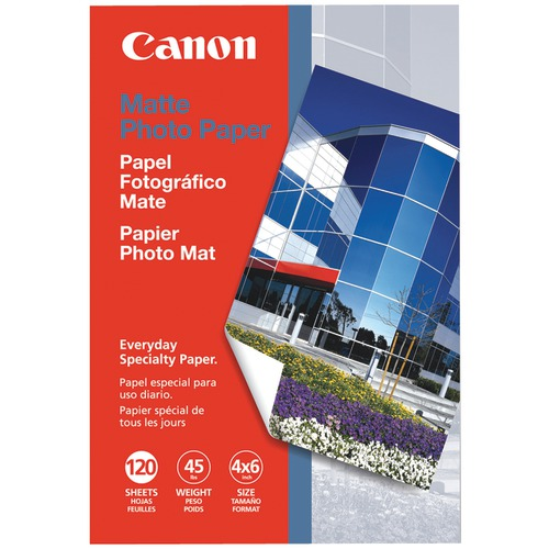 "canon matte photo paper (4"" x 6""; 120 pk)"