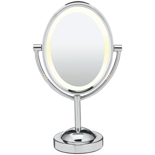 conair reflections double-sided lighted oval mirror