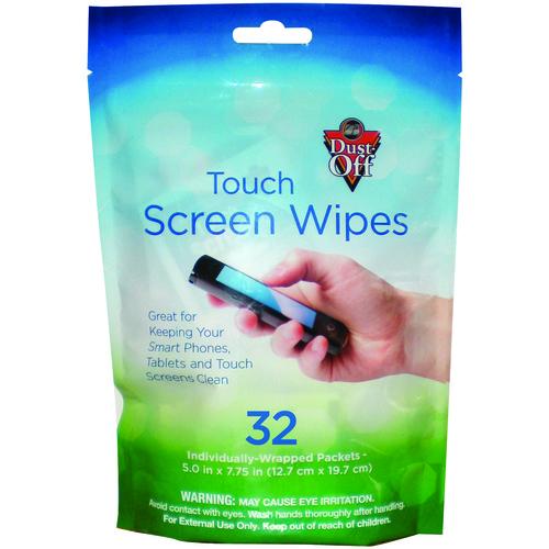 dust-off screen wipes, 32 pk
