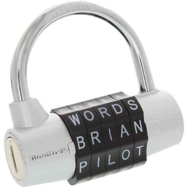 wordlock 5-dial combination padlock (silver)