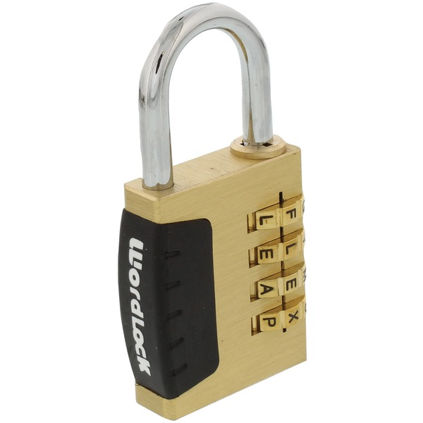 wordlock 4-dial combination sports lock