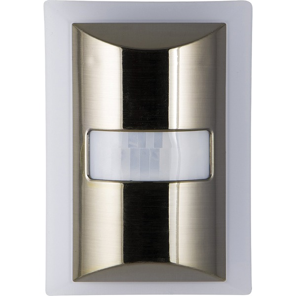 ge 60-lumen motion-boost led night light (brushed nickel)