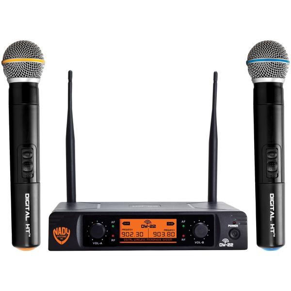 nady dual-transmitter digital wireless microphone system (2 digital ht handheld microphones)