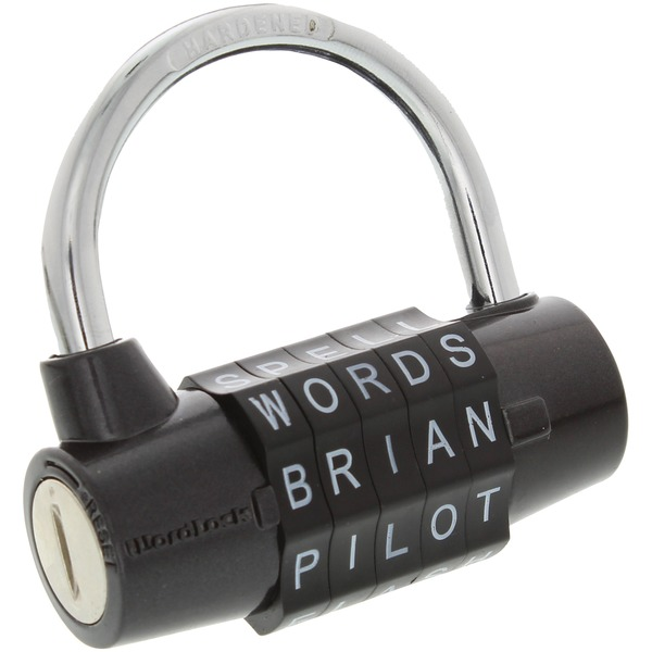 wordlock 5-dial combination padlock (black)