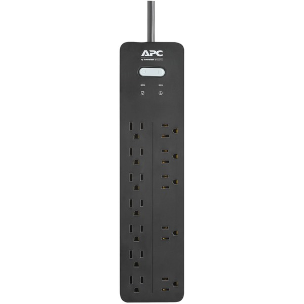 apc 12-outlet surgearrest home and office series surge protector, 6ft cord