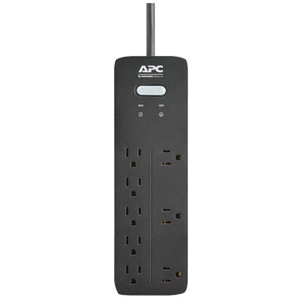 apc 8-outlet surgearrest home and office series surge protector, 6ft cord