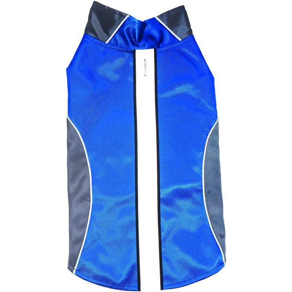 royal animals water-resistant dog raincoat with reflective stripes, blue (small)