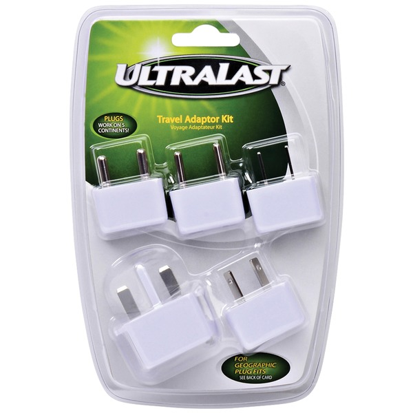 ultralast international travel ac adapter kit