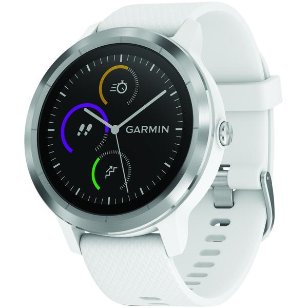 garmin vivoactive 3 (white with stainless hardware)