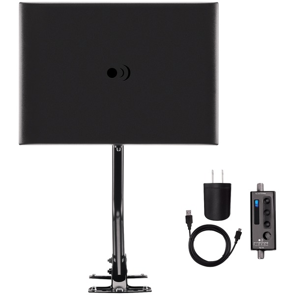 antennas direct clearstream fusion amplified uhf and vhf indoor and outdoor hdtv antenna with 20-inch mast