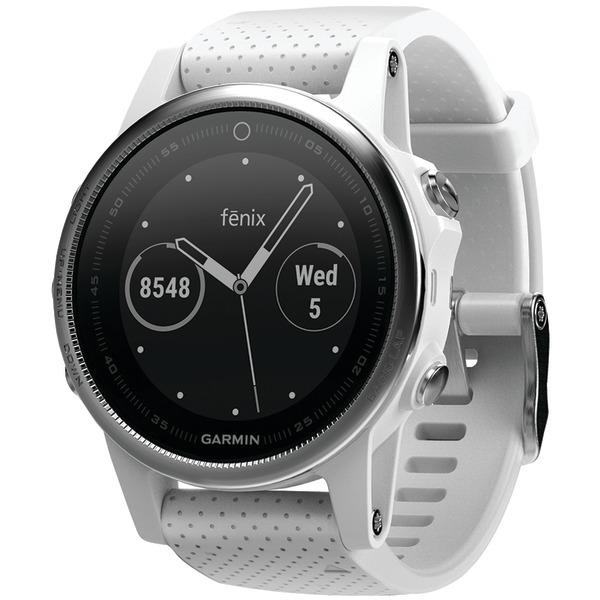 garmin fenix 5s 42mm multisport gps watch (white with carrara white band)