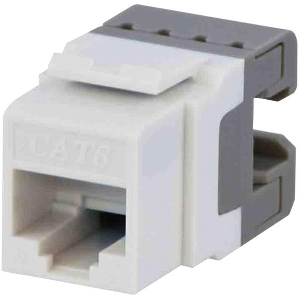 datacomm electronics cat-6 jacks, 10 pack (white)