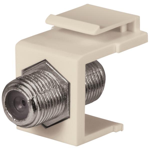 datacomm electronics 1 ghz f-connector keystone insert (lite almond)