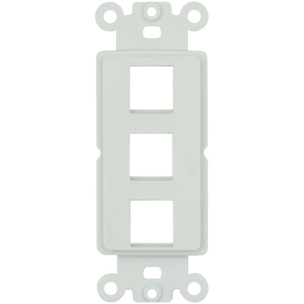 datacomm electronics 3-port keystone decor insert