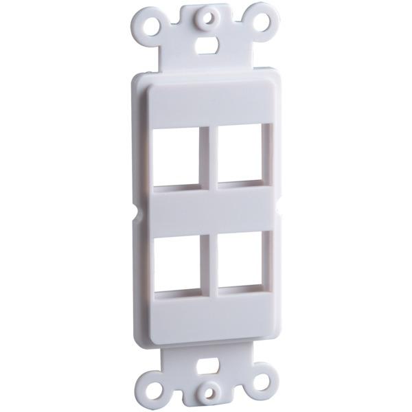 datacomm electronics 4-port keystone decor insert